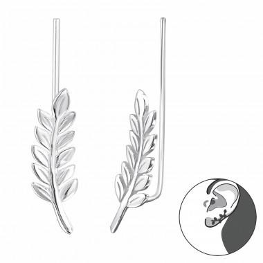 Branch - 925 Sterling Silver Ear Cuffs and Ear pins A4S28625