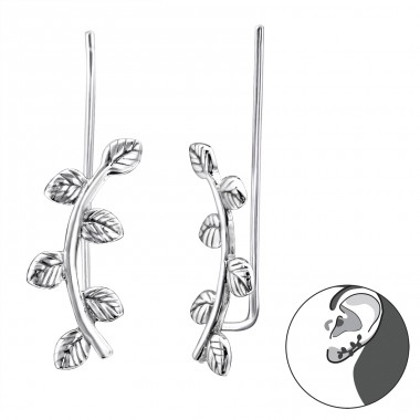 Branch - 925 Sterling Silver Ear Cuffs and Ear pins A4S28724