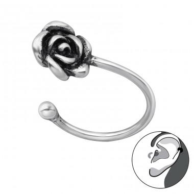 Rose - 925 Sterling Silver Ear Cuffs and Ear pins A4S29181
