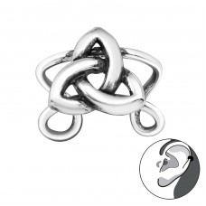 Celtic Knot - 925 Sterling Silver Ear Cuffs and Ear pins A4S29193
