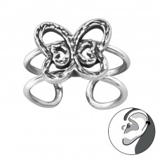 Butterfly - 925 Sterling Silver Ear Cuffs and Ear pins A4S29196