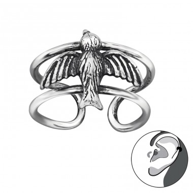 Bird - 925 Sterling Silver Ear Cuffs and Ear pins A4S29199