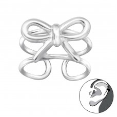 Bow - 925 Sterling Silver Ear Cuffs and Ear pins A4S29205