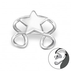 Star - 925 Sterling Silver Ear Cuffs and Ear pins A4S29208