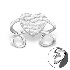 Heart - 925 Sterling Silver Ear Cuffs and Ear pins A4S29210