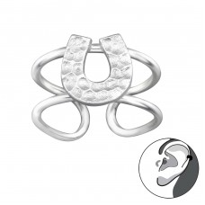 Horseshoe - 925 Sterling Silver Ear Cuffs and Ear pins A4S29211