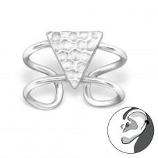 Triangle - 925 Sterling Silver Ear Cuffs and Ear pins A4S29212