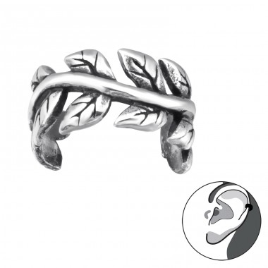 Vine - 925 Sterling Silver Ear Cuffs and Ear pins A4S30585