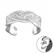 Intertwining - 925 Sterling Silver Ear Cuffs and Ear pins A4S30597