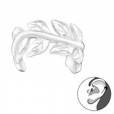 Vine - 925 Sterling Silver Ear Cuffs and Ear pins A4S30844