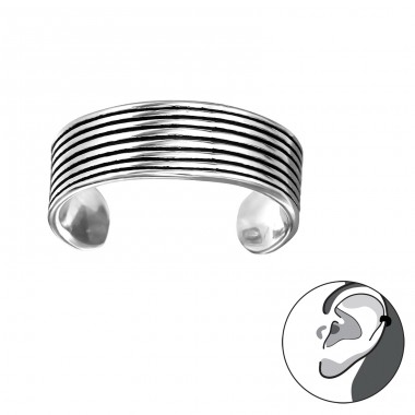 Stackable - 925 Sterling Silver Ear Cuffs and Ear pins A4S30849