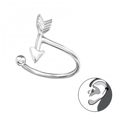 Arrow - 925 Sterling Silver Ear Cuffs and Ear pins A4S30914
