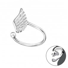 Wing - 925 Sterling Silver Ear Cuffs and Ear pins A4S30916