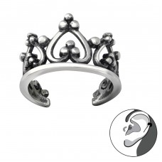 Crown - 925 Sterling Silver Ear Cuffs and Ear pins A4S33799
