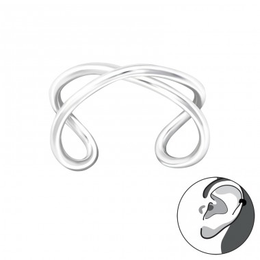 Cross - 925 Sterling Silver Ear Cuffs and Ear pins A4S36480