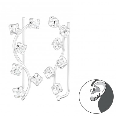 Branch - 925 Sterling Silver Ear Cuffs and Ear pins A4S37405