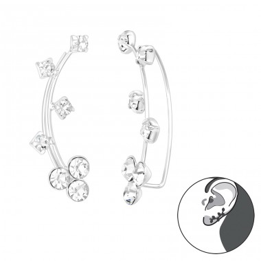 Branch - 925 Sterling Silver Ear Cuffs and Ear pins A4S39114
