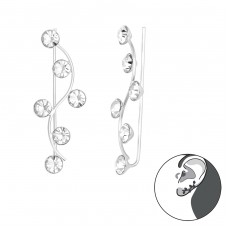 Branch - 925 Sterling Silver Ear Cuffs and Ear pins A4S39115