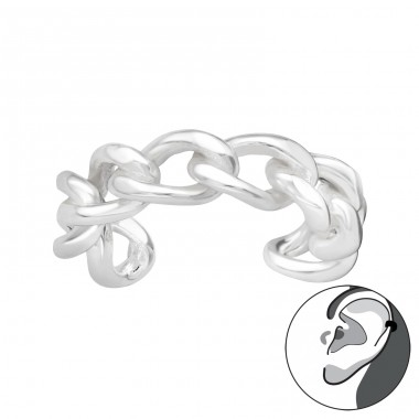 Chain - 925 Sterling Silver Ear Cuffs and Ear pins A4S40703