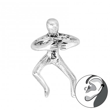 Person holding - 925 Sterling Silver Ear Cuffs And Ear Pins A4S41668
