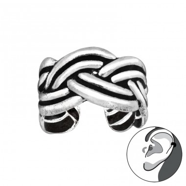 Celtic oxydized - 925 Sterling Silver Ear Cuffs And Ear Pins A4S41693