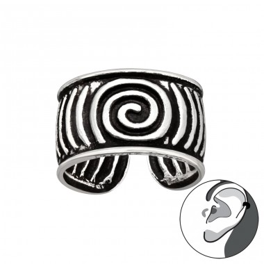 Vintage spiral - 925 Sterling Silver Ear Cuffs And Ear Pins A4S41709