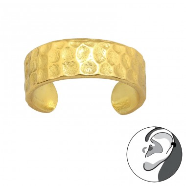 Golden Faceted one-ear jewellery - 925 Sterling Silver Ear Cuffs And Ear Pins A4S42079