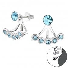 Basic Ear Jackets - 925 Sterling Silver Double-sided Ear Studs A4S30212