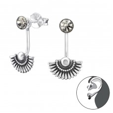 Bali - 925 Sterling Silver Double-sided Ear Studs A4S34450