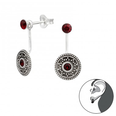 Bali - 925 Sterling Silver Double-sided Ear Studs A4S35436