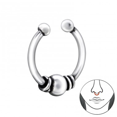 Bali - 925 Sterling Silver Nose Silver Piercing A4S28382