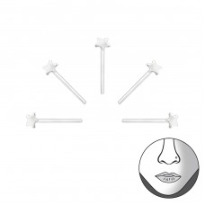 Star - 925 Sterling Silver Nose Silver Piercing A4S31480