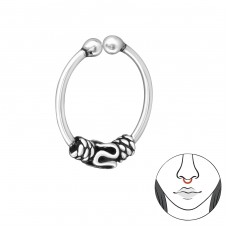 Bali - 925 Sterling Silver Nose Silver Piercing A4S31998