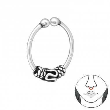 Bali - Striebro 925 Piercing do nosa A4S31998