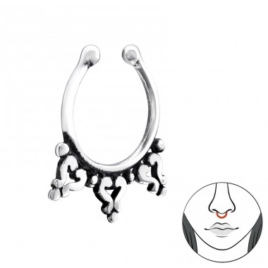 Bali - 925 Sterling Silver Nose Silver Piercing A4S34193