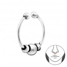 Bali - Striebro 925 Piercing do nosa A4S34603