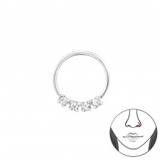 10mm - Striebro 925 Piercing do nosa A4S34609