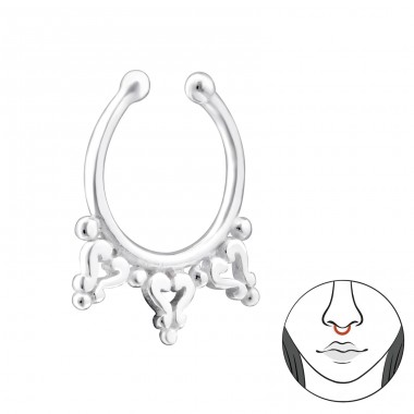 Bali - Striebro 925 Piercing do nosa A4S34651
