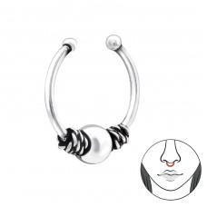 Bali - 925 Sterling Silver Nose Silver Piercing A4S34847