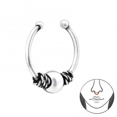 Bali - Striebro 925 Piercing do nosa A4S34847