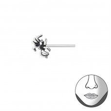 Spider - 925 Sterling Silver Nose Silver Piercing A4S35759