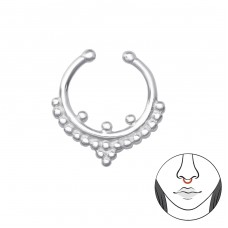 Bali - Striebro 925 Piercing do nosa A4S36215