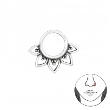 Bali - 925 Sterling Silver Nose Silver Piercing A4S39069