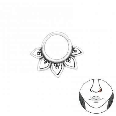 Bali - Striebro 925 Piercing do nosa A4S39069