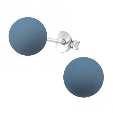 Round - 925 Sterling Silver Ear Studs with Pearls A4S29596