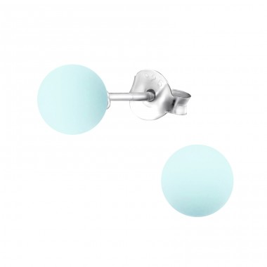 Powder 6mm - 925 Sterling Silver Ear Studs with Pearls A4S31177
