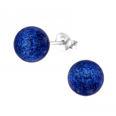 Glitter  6mm - 925 Sterling Silver Ear Studs with Pearls A4S31179