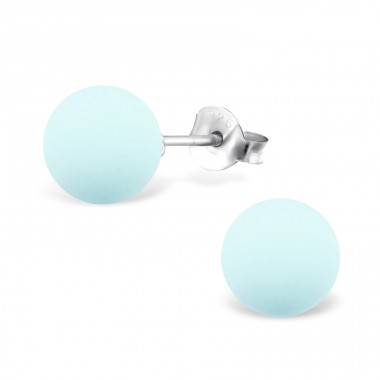 Powder 8mm - 925 Sterling Silver Ear Studs with Pearls A4S31180