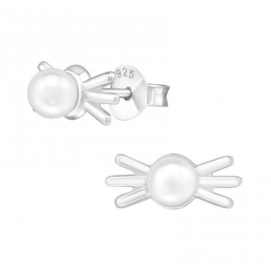 Candy - 925 Sterling Silver Ear Studs with Pearls A4S38778