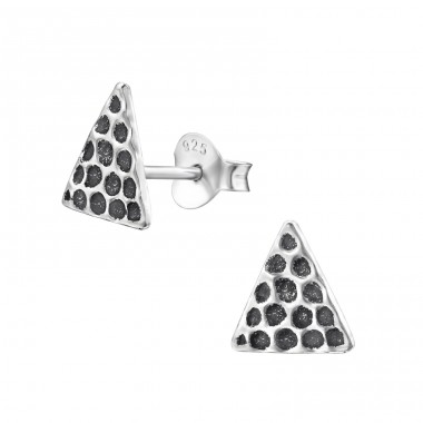 Triangle - 925 Sterling Silver Plain Ear Studs A4S29350
